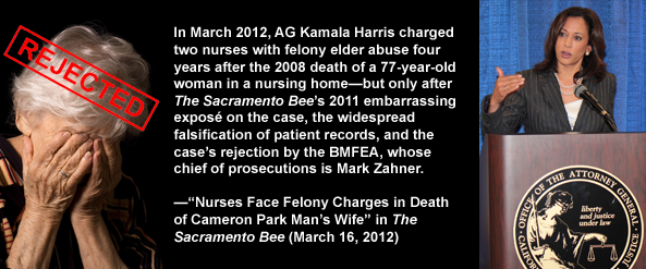 California Attorney General Kamala Harris fails to prosecute elder abuse against nursing homes