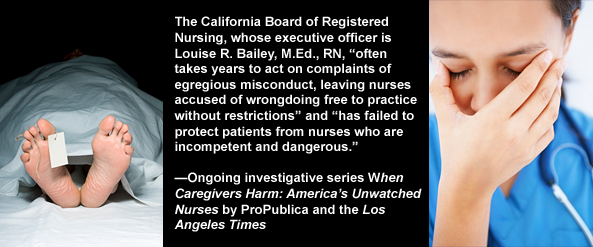 California Board of Registered Nursing fails to protect patients from dangerous RN nurses