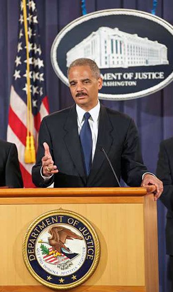 United States Attorney General Eric Holder prosecutes corrupt public officials in California